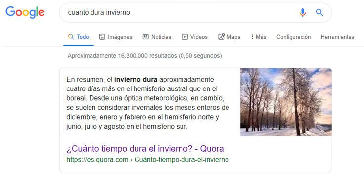 Posición cero en Google sin datos estructurados