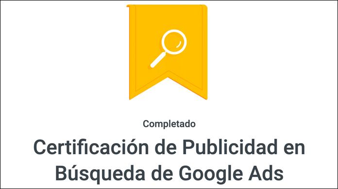 Certificado de Google Ads