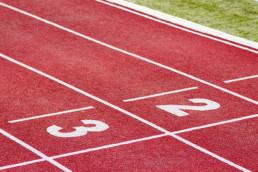 Posición en pista de atletismo